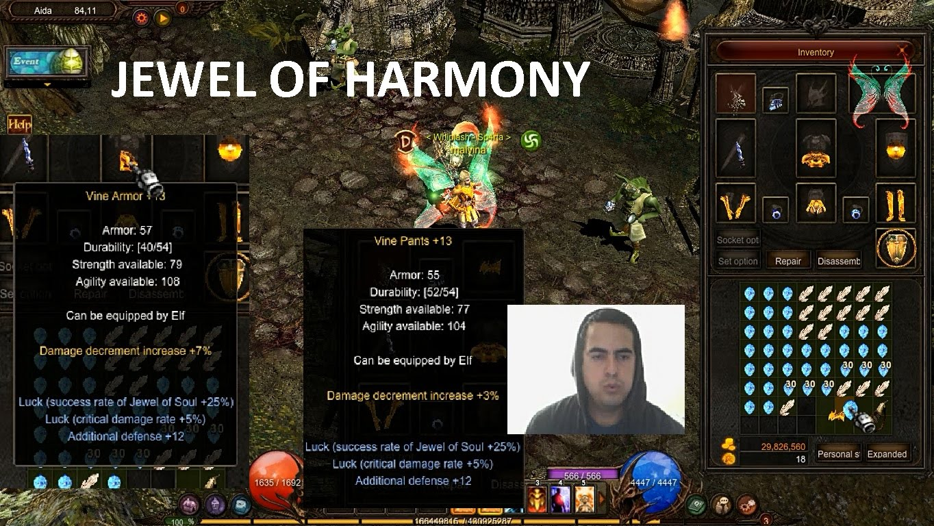 Mu online jewel of harmony best options