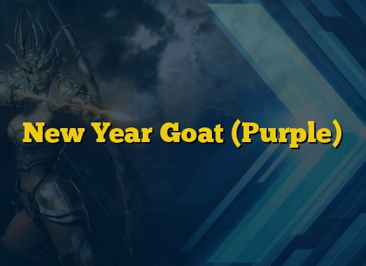New Year Goat (Purple)
