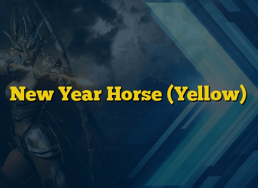 New Year Horse (Yellow)